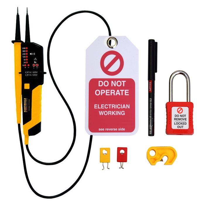 Martindale VT25 Voltage Tester & LOKKITBASE Bundle (FREE GIFT)