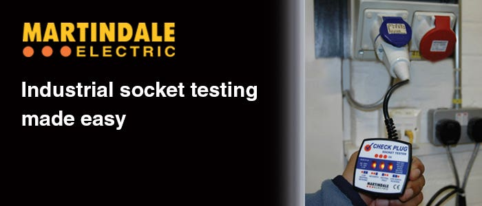 PAT Training Industrial Socket Testing blog post - Martindale Electric - Header Banner