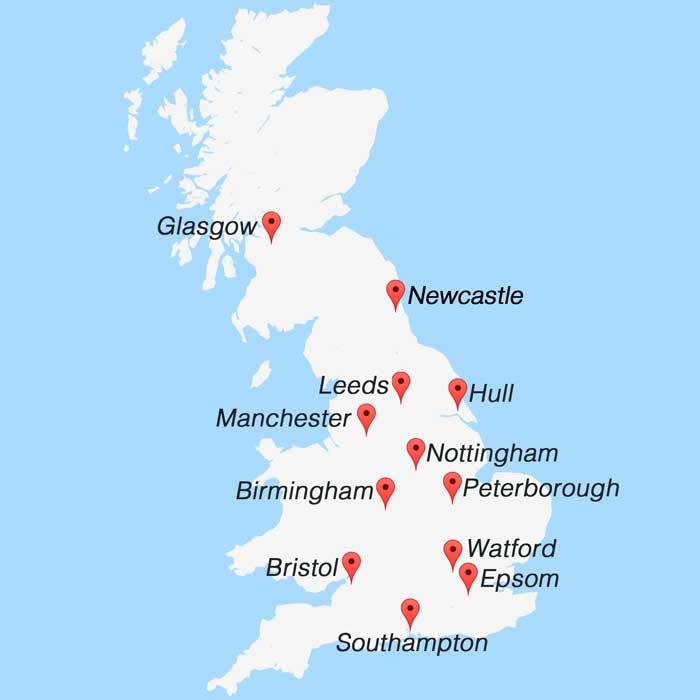 UK Venue Map