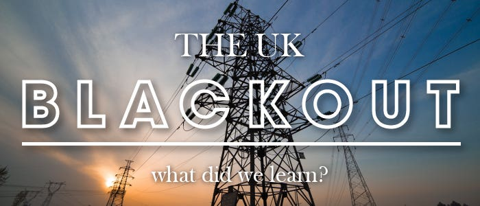 What did we learn from the August blackout?