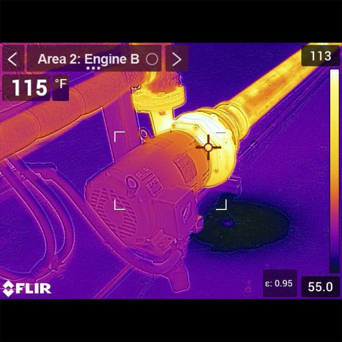 FLIR Inspection Route In Use
