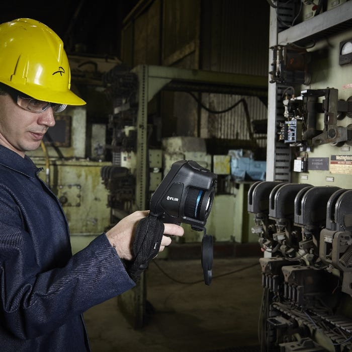 FLIR E96 Advanced Thermal Imaging Camera In Use