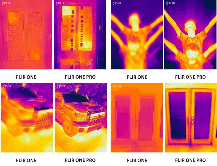 FLIR One Image Comparison