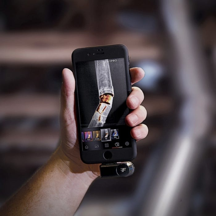 Seek Thermal CompactPRO Thermal Camera for Smartphone In Use 2